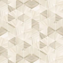 Wallpaper Marble Hexagon | Sand