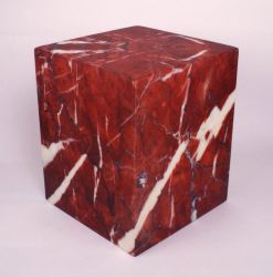 Sit On Everything Cube | Red Marble