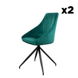 Swivel Chair Martha | Green - Set of 2