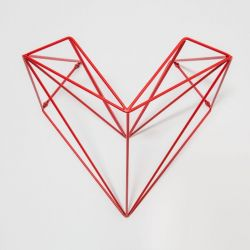 Heart Bike Holder | Red