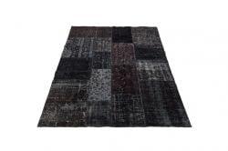 Patchwork-Teppich Vintage | Schwarz