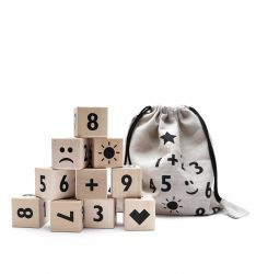 Math Blocks Set of 10 | Black