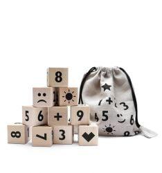 Wiskundeblokken Set van 10 | Zwart