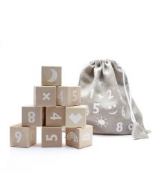 Math Blocks Set of 10 | White