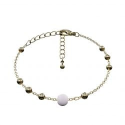 Ball Bracelet Matrix | Pale Lilac & Gold