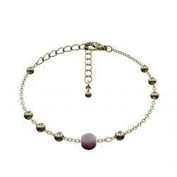 Ball Bracelet Matrix | Plum & Gold