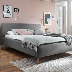 Upholstered Bed Mattis | Grey