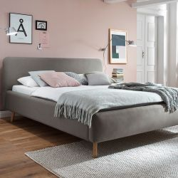 Upholstered Bed Mattis | Taupe