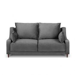2-Sitzer-Sofa Samt Freesia | Grau