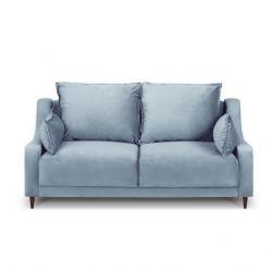 2-Sitzer-Sofa Samt Freesia | Hellblau