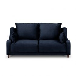 2-Sitzer-Sofa Samt Freesia | Dunkelblau
