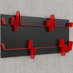 Battikuore Shelves Large Black/Red - 2 Shelves