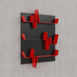 Battikuore Shelves Small Black/Red - 3 Shelves