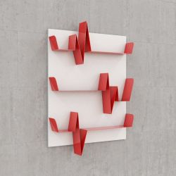 Battikuore Shelves Small White/Red - 3 Shelves