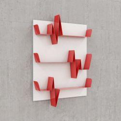 Battikuore-Regale Klein Weiß/Rot - 3 Regale