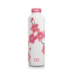 Flasche Edelstahl | Blumen
