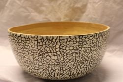 Bamboo Eggshell Salad Bowl Medium