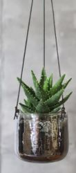 Viri hanging planter AGED SILVER / MEDIUM 13 X 13CM (DIA)