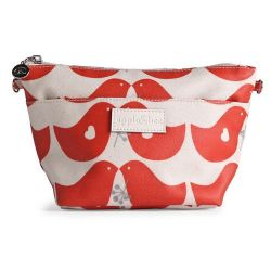 Medium Make-up Tas Love Bird Red