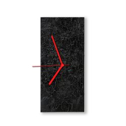 Wall Clock Caligo | Black & Red