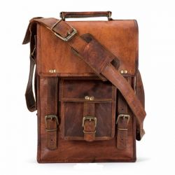 Leather Messenger Bag North South