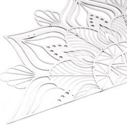 Sutra Wanddekoration   Weiß