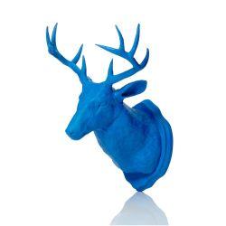Magnet & Wandhaken Hirschgeweih | Blau