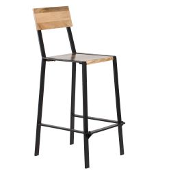 Bar Stool Delphine | Natural & Black
