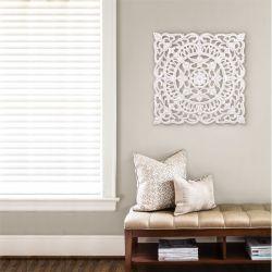 Wand-Medaillon Ancona | Weiß