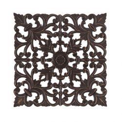 Wand-Medaillon Bianci | Braun