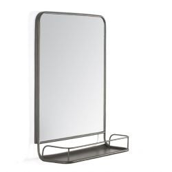 Wall Mirror With Shelf Moselle | Grey