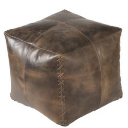 Pouf Harper Leather | Brown