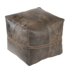 Pouf Langley Leather | Brown