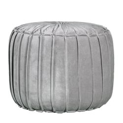 Cotton Pouf Marcel Pleated | Grey