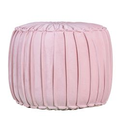 Pouf en coton Marcel Pleated | Rose