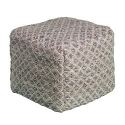 Pouf Joey Geometric Pattern