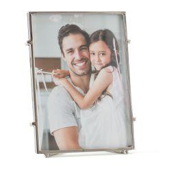 Quadratischer Fotorahmen Bari 57 | Silber