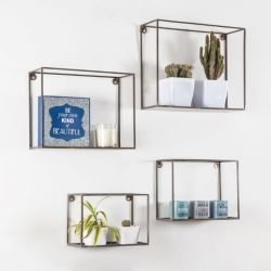 Wall Shelf Vendome Set of 4 | Black