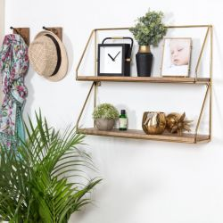 Wall Shelf Lugo | Gold