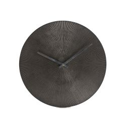 Wall Clock Maximes Ridges | Black