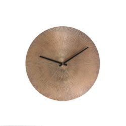 Wall Clock Maximes Ridges | Copper