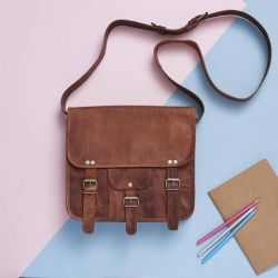 Leather Satchel Midi