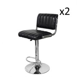 Bar Stool Midnight 700 | Black - Set of 2