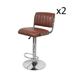 Set of 2 Bar Stools Midnight  700 | Coffee