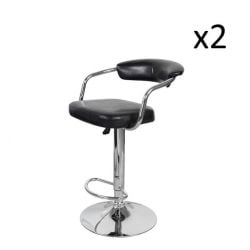 Set de 2 Tabourets de Bar Midnight 500 | Noir