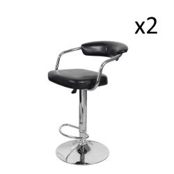 Set of 2 Bar Stools Midnight 500 | Black