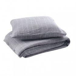 Mimir Duvet + Square Pillow Cases | Camel Grid