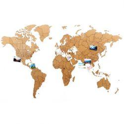 Luxus-Weltkarte Wanddekoration + Puzzle | Natürlich