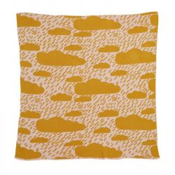 Clouds Cotton Mini Blanket | Mustard