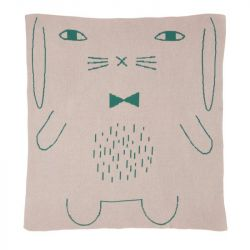 Rabbit Cotton Mini Blanket | Pink